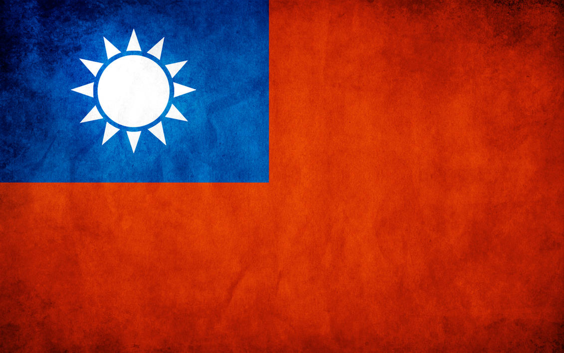 Taiwan Grunge Flag by think0