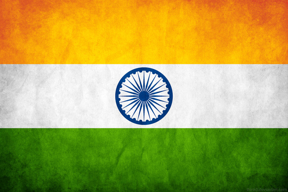 India Grunge Flag by think0 ...