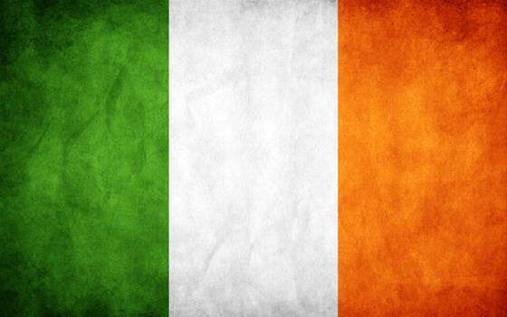 Ireland Grunge Flag