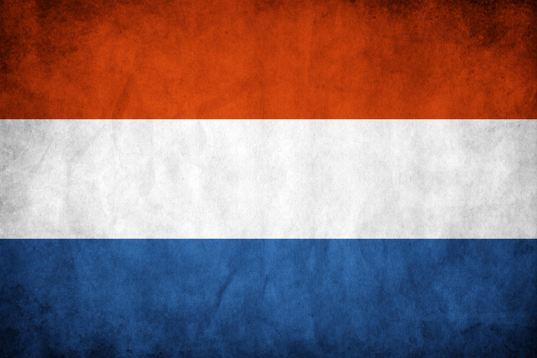 Netherlands Grunge Flag by think0