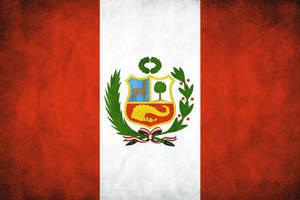 Peru Grunge Flag by think0