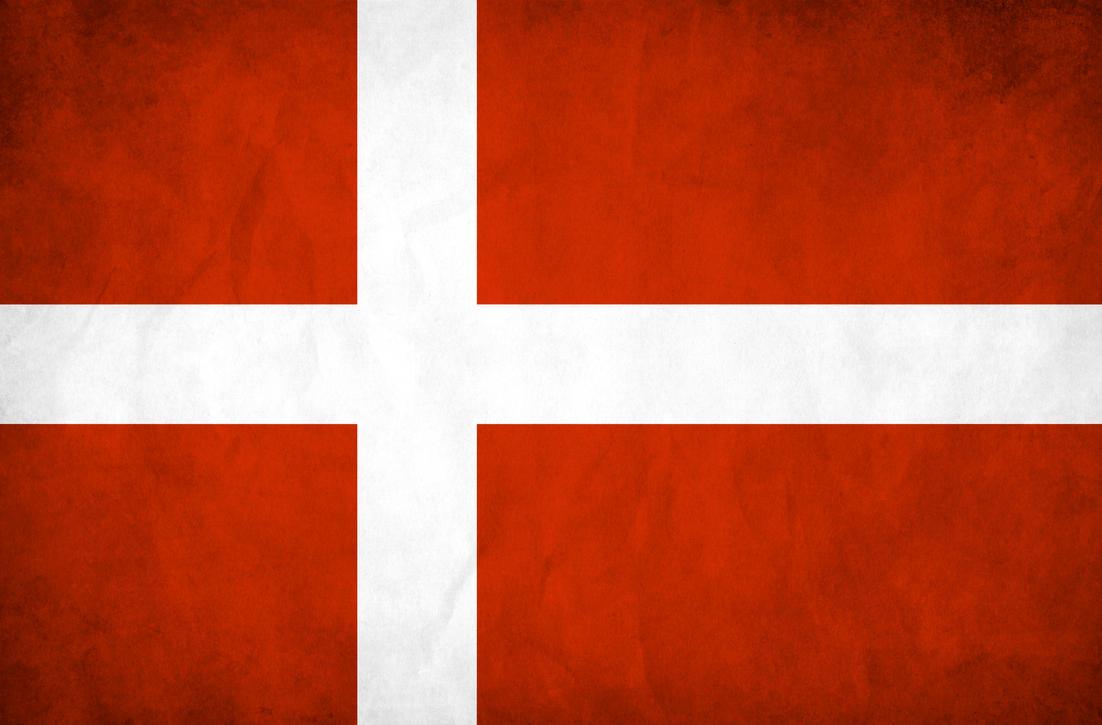 Denmark Grunge Flag by think0