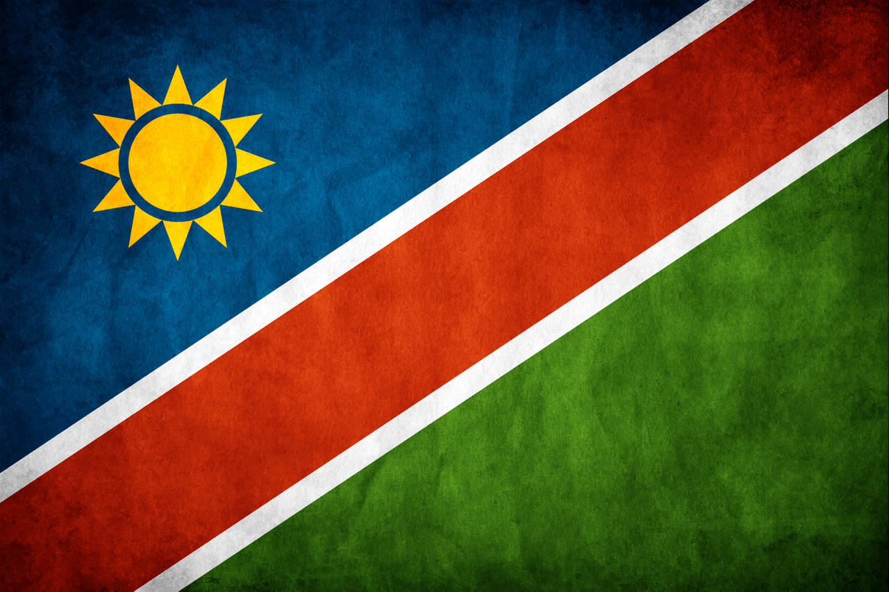 Namibia Grunge Flag