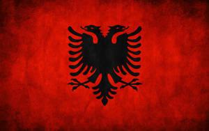 Albania Grunge Flag by think0