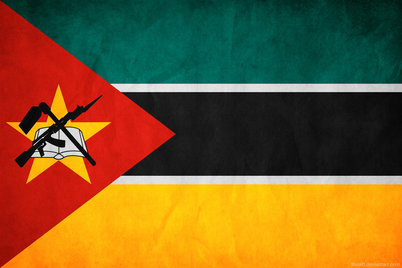 Mozambique Grunge Flag