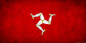 Isle of Man Flag Grunge
