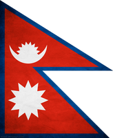 Nepal Flag Grunge by think0