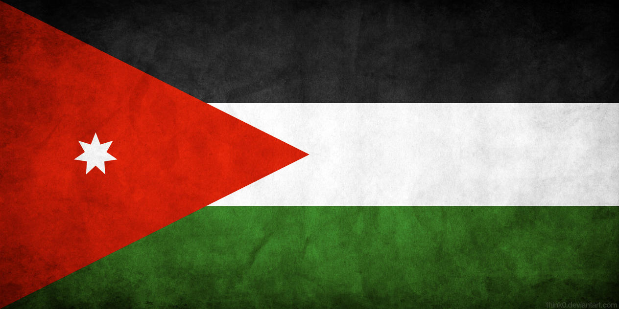 Jordan Flag Grunge by think0