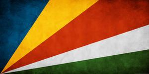 Seychelles Flag Grunge