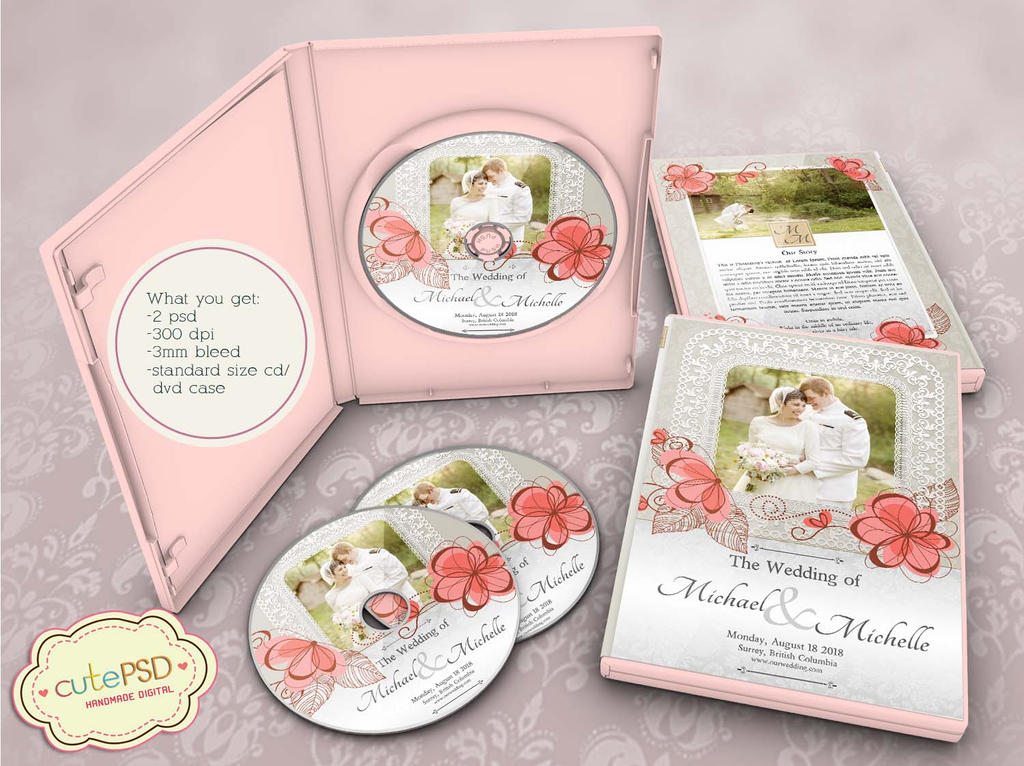 Wedding Dvd Case Floral - Photoshop Templates by constantine80 on ...
