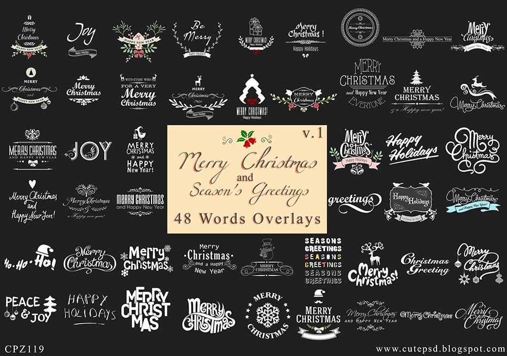 Christmas Holidays Overlays Bundles - Set of 48 ov by constantine80