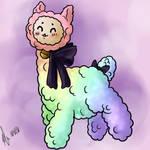 Cute Rainbow Alpaca