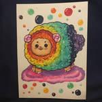 Rainbow Goofy Sheep