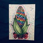 Rainbow Corn Cob