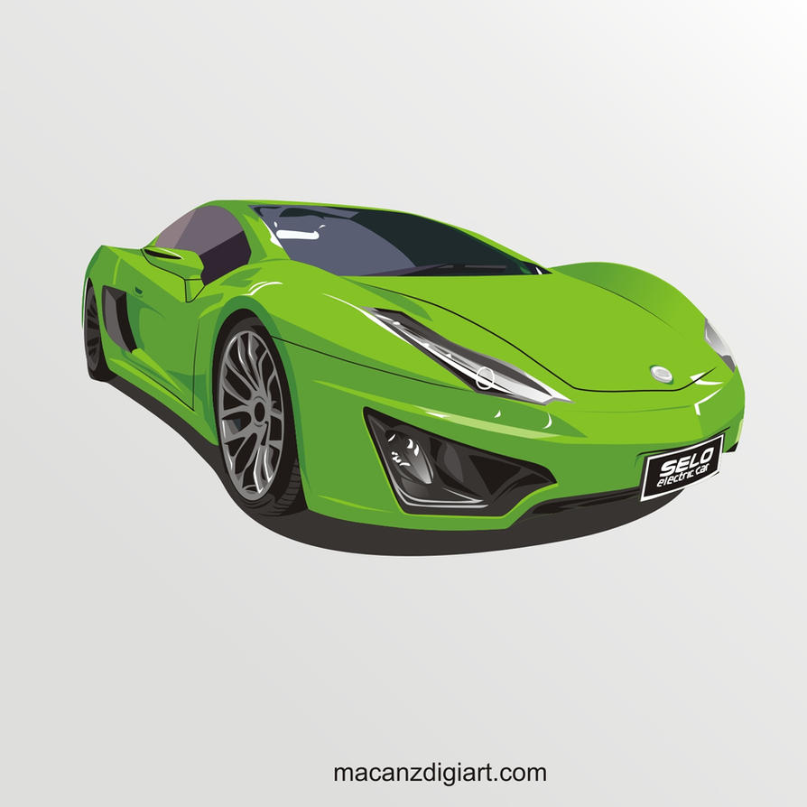 Electric Sport Car by macanzdigiart