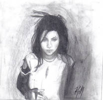 Amy Lee Portrait by fightingtheundertow