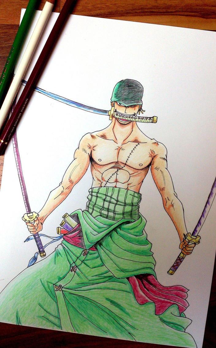 Roronoa Zoro (One Piece) by BluesyBenjii