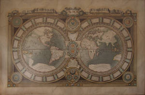 Stock: steampunk map by barnsdale11