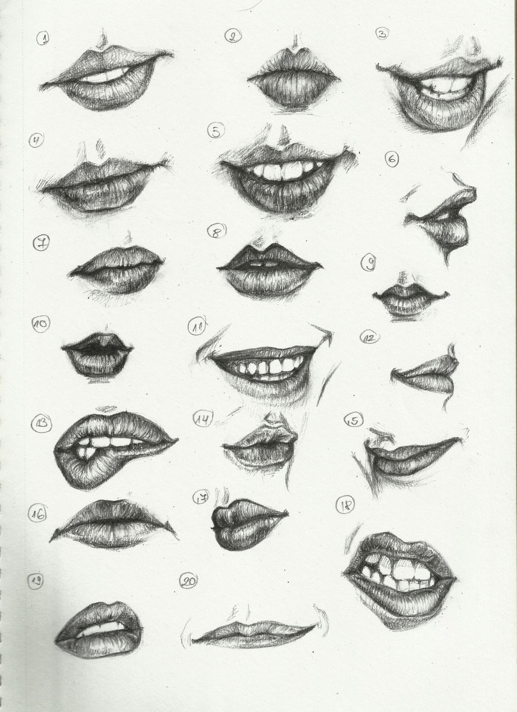 ctrl paint draw 20 lips by 1queteam1soulfly traditional art drawings