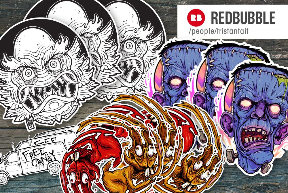 RedbubbleSamplerStickers by MrTristan