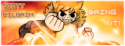 Scott Pilgrim flies and shines by Zas-Man
