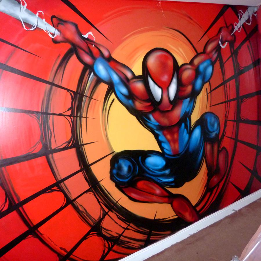 Spiderman Bedroom Wall Art Luxurious Bedroom Interior Design Ideas Bedroom Black And White Bedroom Design For Guys: Spiderman Bedroom Wall Graffiti By LifeisPaint On DeviantArt