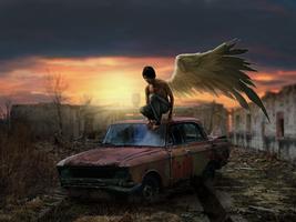 Angel-on-car