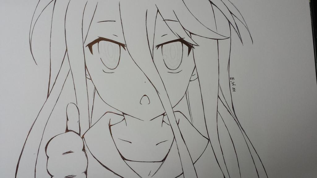 Sketch:No Game No Life Shiro By KeepYourEyesOpenx3 On