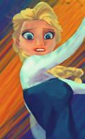 Elsa's fear by Bapazu