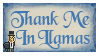 Thank Me In Llamas Stamp by Serenity-Blue