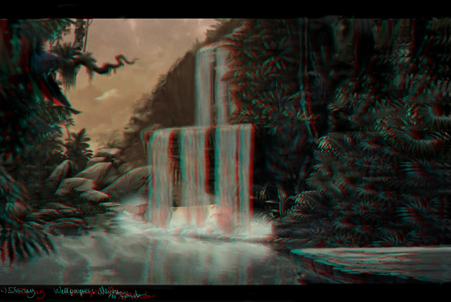 Lion King Waterfall 3D by YunakiDraw