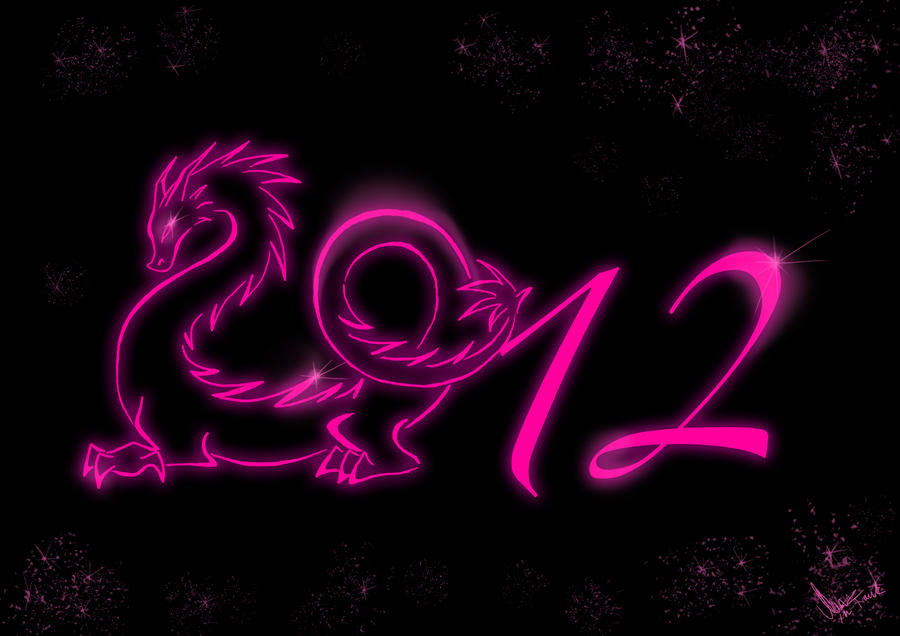 2012 Year of the dragon by YunakiDraw