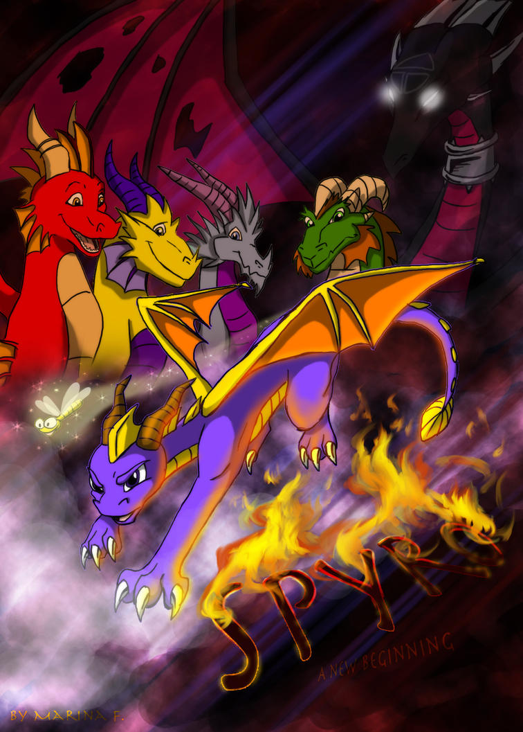 spyro a new beginning cover by yunakidraw on deviantart
