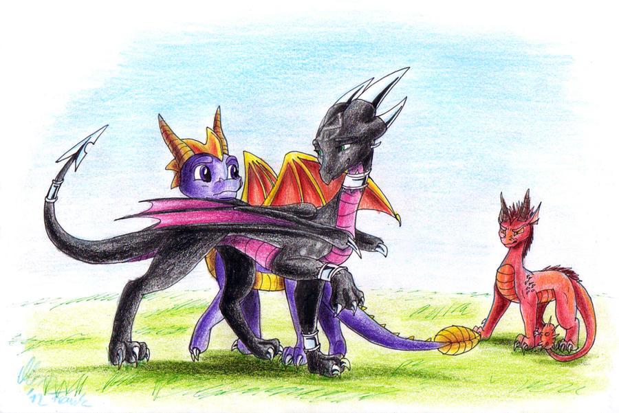 Spyro and cynder mating animation