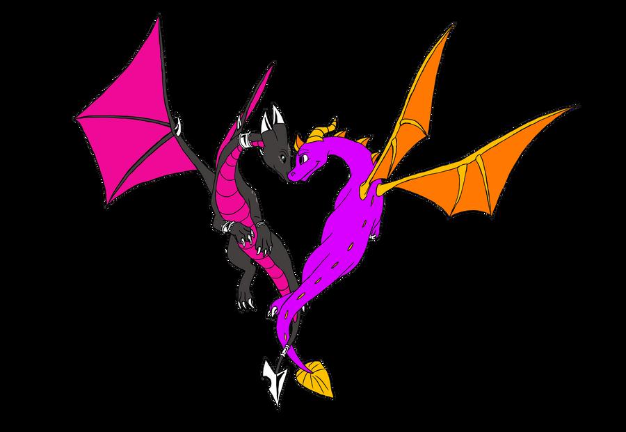 Heart of Spyro and Cynder by YunakiDraw on DeviantArt