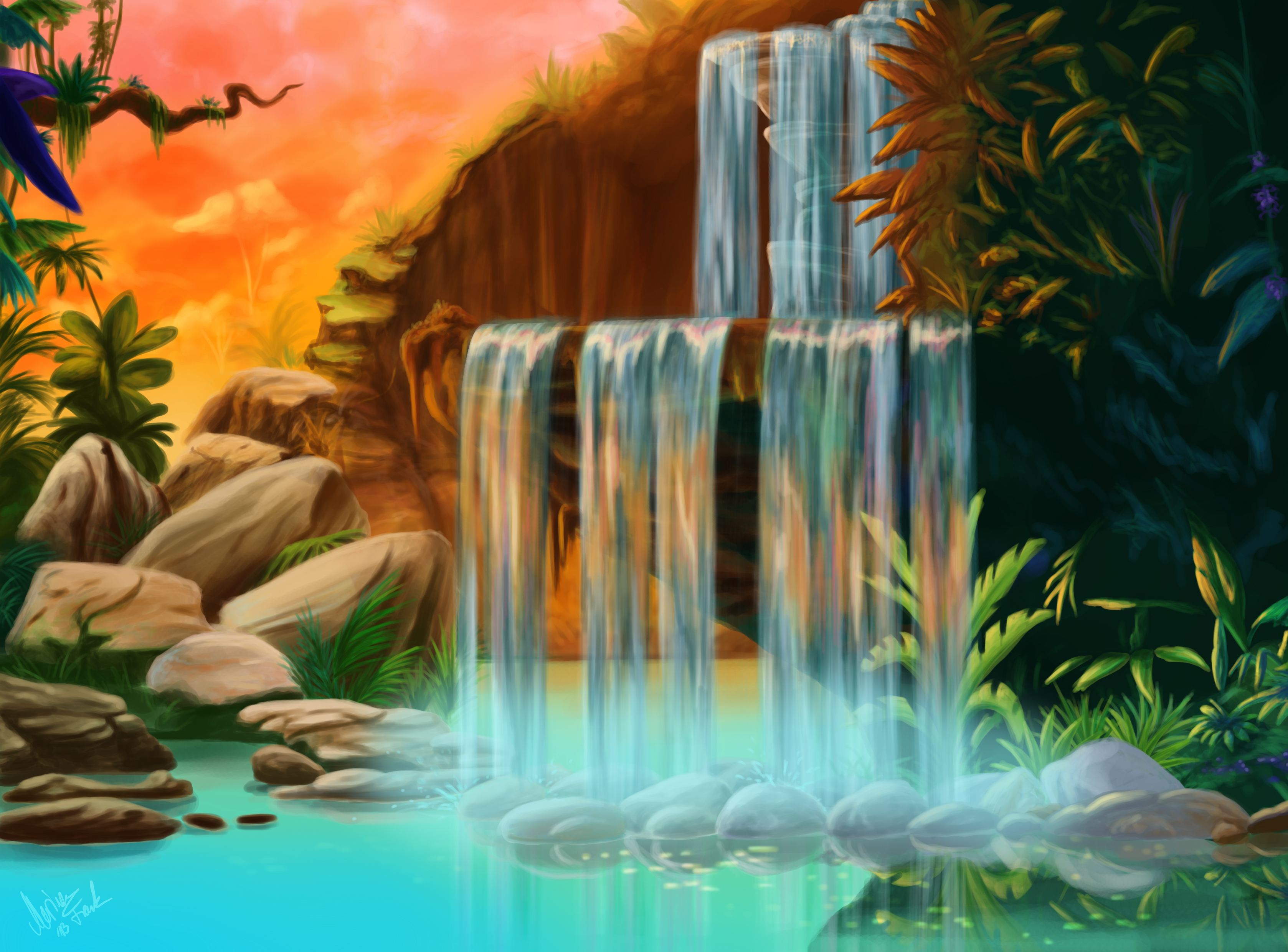 Lion King Waterfall Can You Feel The Love Tonight By Yunakidraw On Deviantart