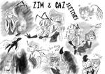 Zim and Gaz Sketches