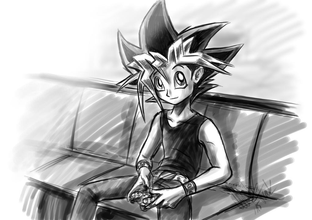 Playing Yugi by YunakiDraw