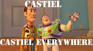 Castiel everywhere by lilyjamesship