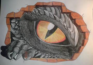 Dragon eye and dragon claw