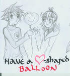 Have a heart-shaped baloon
