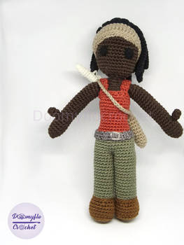 Michonne walking dead doll poupee crochet doomyflo