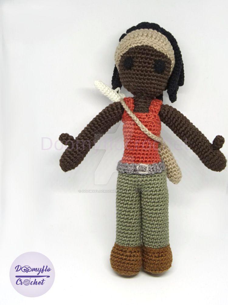 Michonne walking dead doll poupee crochet doomyflo by doomyflocrochet