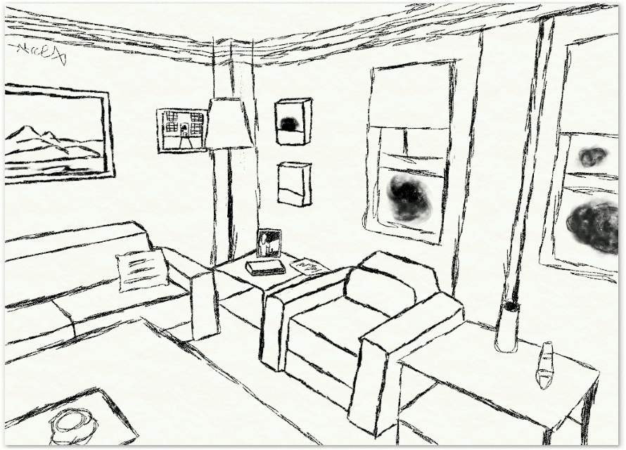 living room drawing - more information