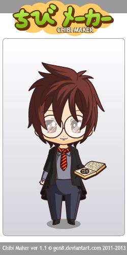 Harry Potter chibi by Yandere-ChanKawaii13