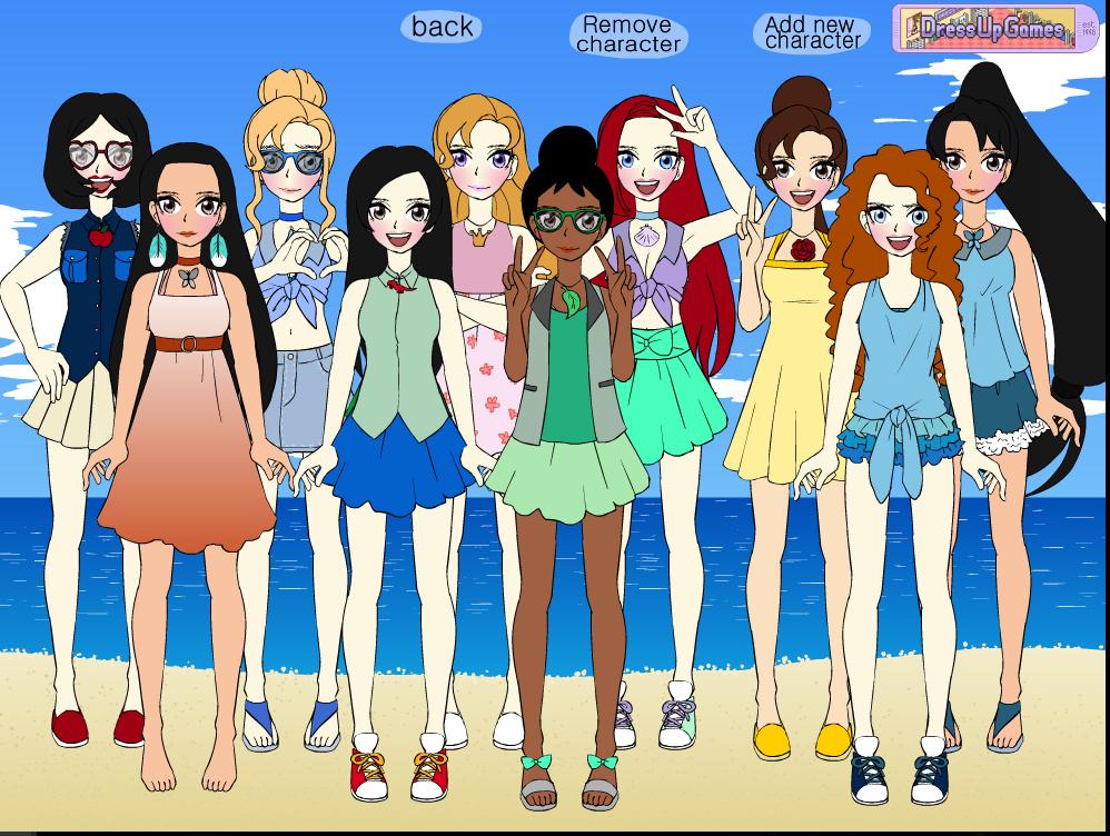 Disney Girls In Summer by Yandere-ChanKawaii13