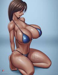 Venus Ney on knees