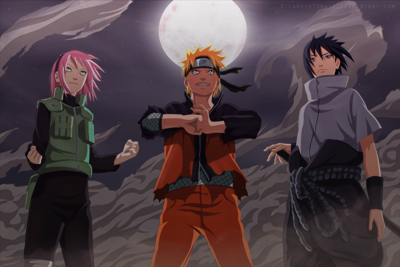 Sakura, Naruto And Sasuke  - '' Team 7 Is Back'' by Ric9Duran