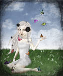 Albinism and Butterflies by muddypuddles