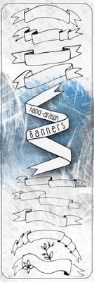 Hand-Drawn Banners/Ribbons